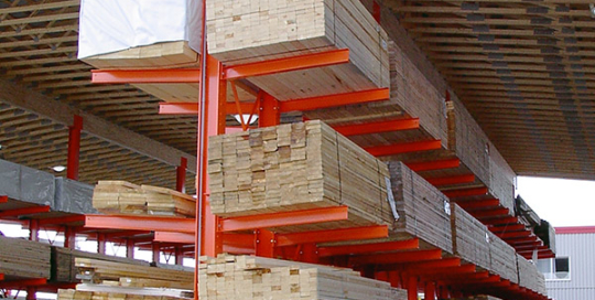 Wooden Trussed supported by Cantilevers
