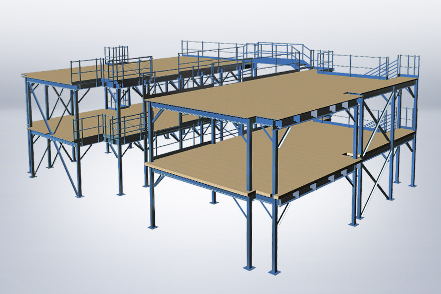 Multi-level mezzanine system