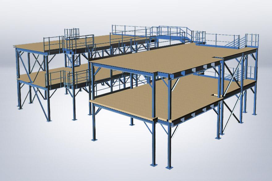 Multi-level mezzanine system