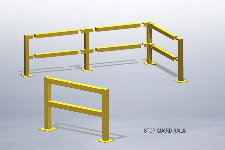 Steel stop guard rails