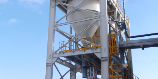 Supporting structure for Unical Silo